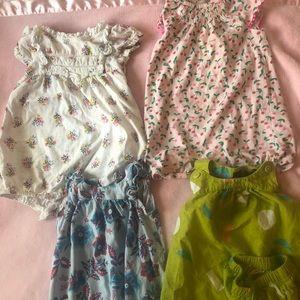 Romper/dress bundle/ 6-9M/ 5 pieces
